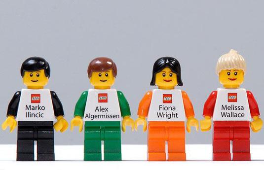 mẫu thiết kế danh thiếp đẹp Lego