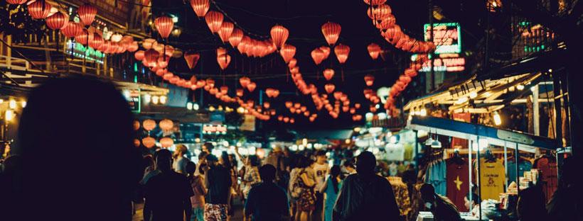 ảnh bìa đẹp phố đèn lồng Việt Nam