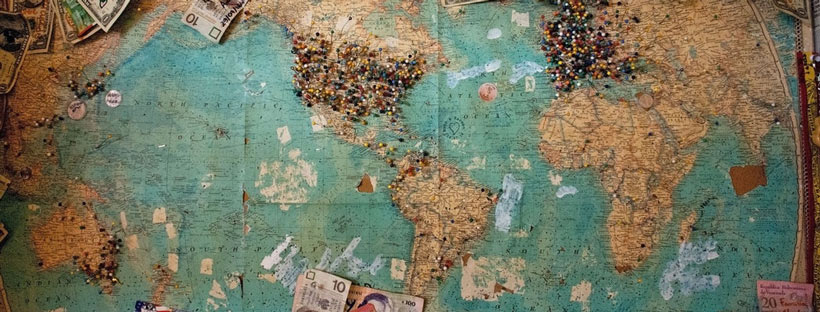 ảnh bìa facebook bản đồ thế giới