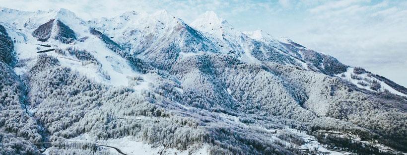 ảnh bìa facebook đẹp núi tuyết