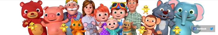 ảnh bìa Youtube đẹp Cocomelon-Nursery Rhymes