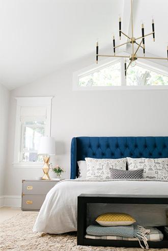 áp tông màu đá quý vào phòng ngủ