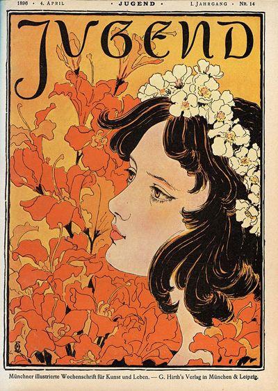 art nouveau trong thiết kế vintage