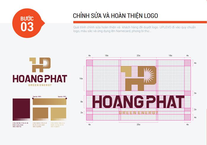 bước 3 chỉnh sửa và hoàn thiện Logo