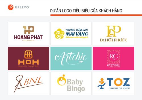 các dự án thiết kế logo tiêu biểu của Uplevo