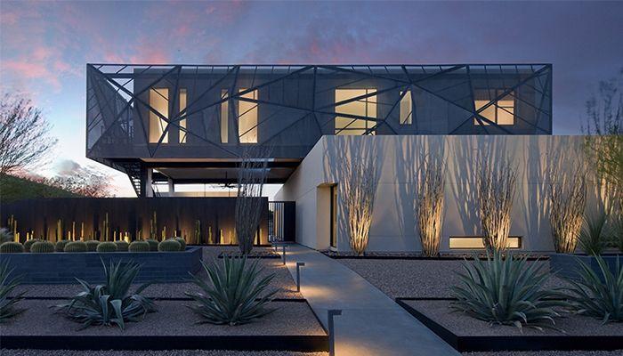 căn nhà sử dụng chủ đề sa mạc