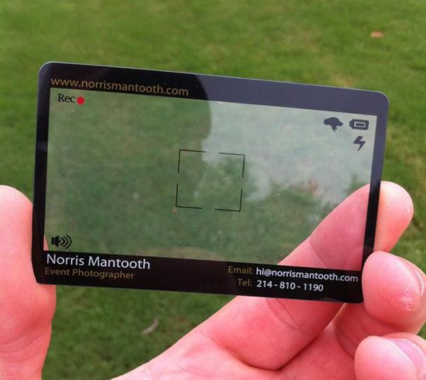 card visit chụp ảnh sự kiện