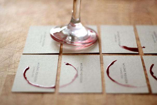 card visit của người chuyên thử rượu