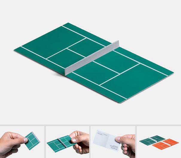 card visit làm sân tenis