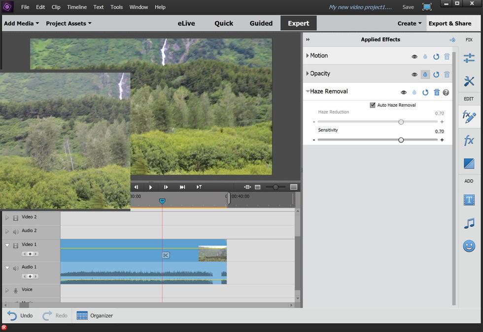 cắt ghép và chỉnh sửa video trên máy tính Premiere Element