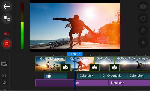 chỉnh sửa cắt ghép video trên điện thoại PowerDirector 1