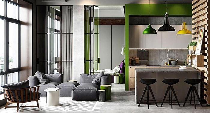 chọn lựa các đồ nội thất bằng kính cho chung cư