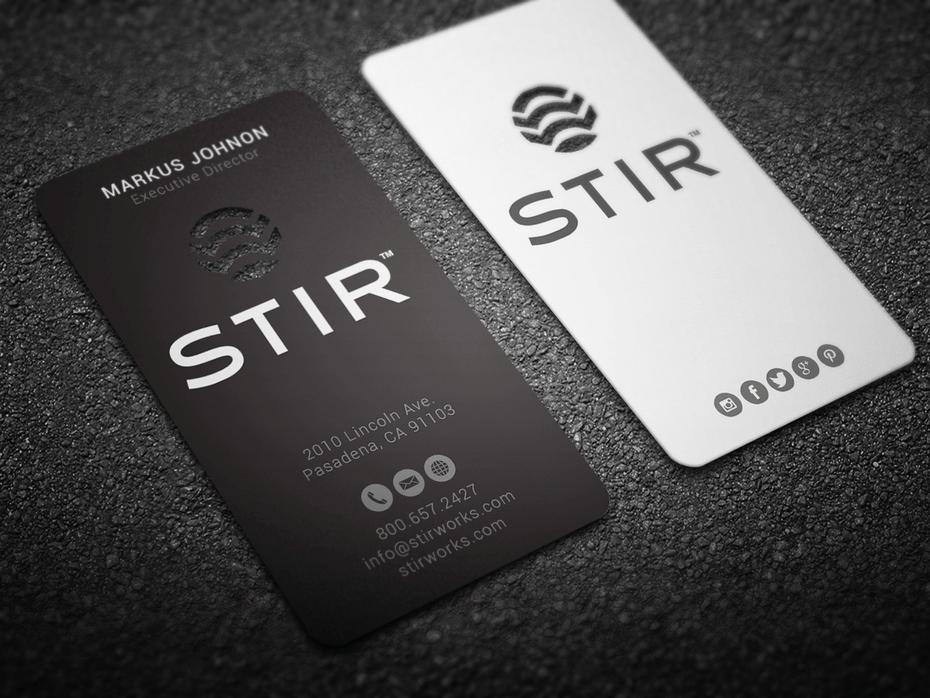 chọn lựa hình dạng card visit