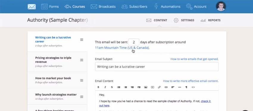 công cụ email marketing convertkit