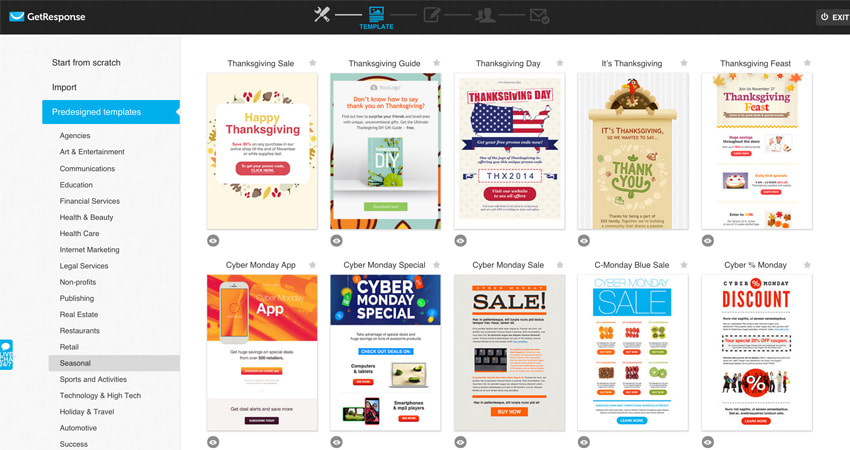 công cụ email marketing get response