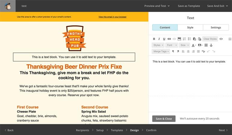 công cụ email marketing mailchimp