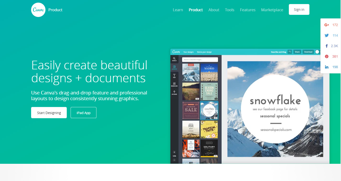 công cụ thiết kế banner online canva