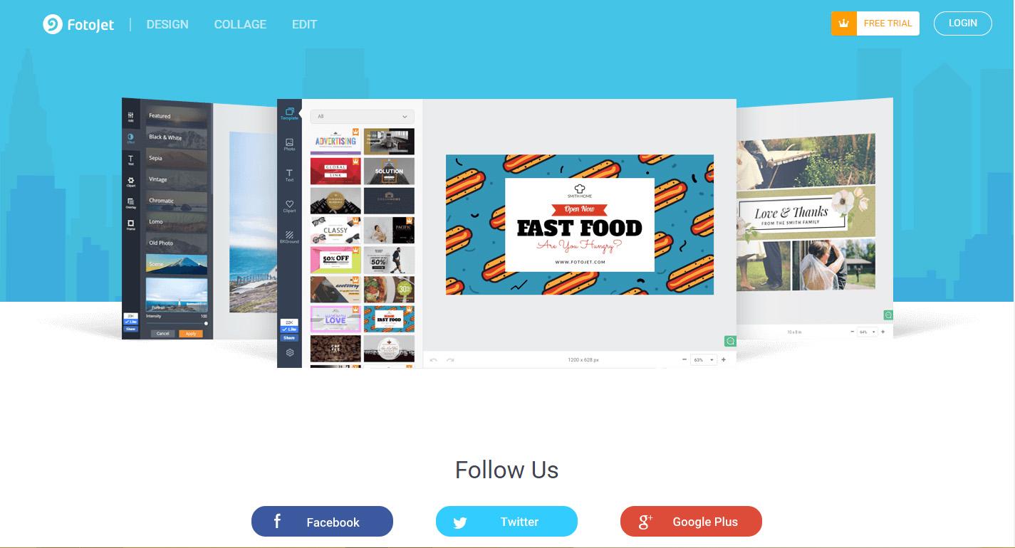 công cụ thiết kế banner online fotojet