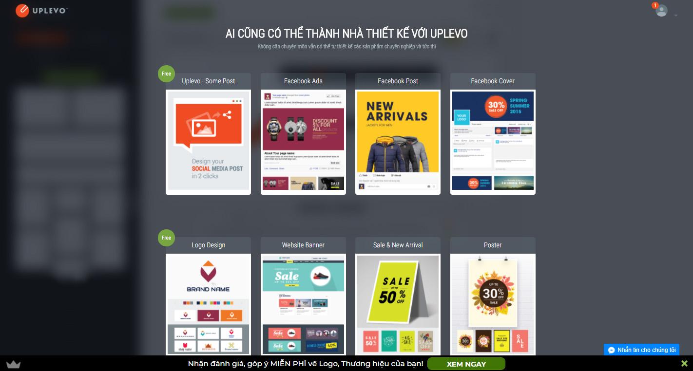 công cụ thiết kế banner online uplevo