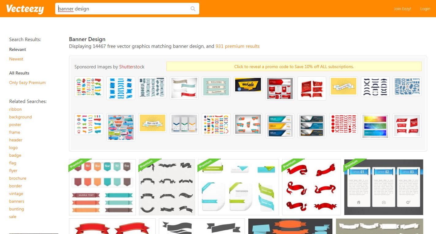 công cụ thiết kế banner online vecteezy