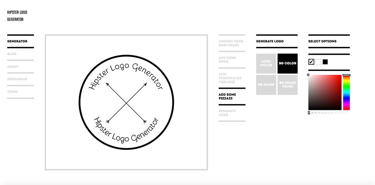 cong cu thiet ke logo online hipster