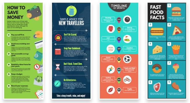 công cụ thiết kế Infographic Snappa
