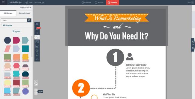 công cụ thiết kế Infographic Visme