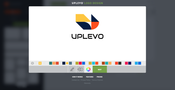 phần mềm tạo logo online uplevo
