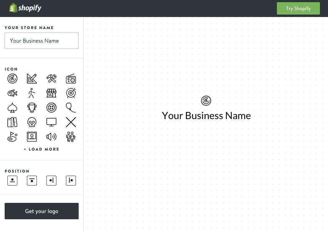 phần mềm thiết kế logo shopify