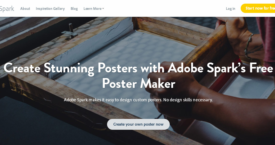 công cụ thiết kế poster adobe spark
