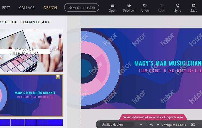công cụ thiết kế poster fotor