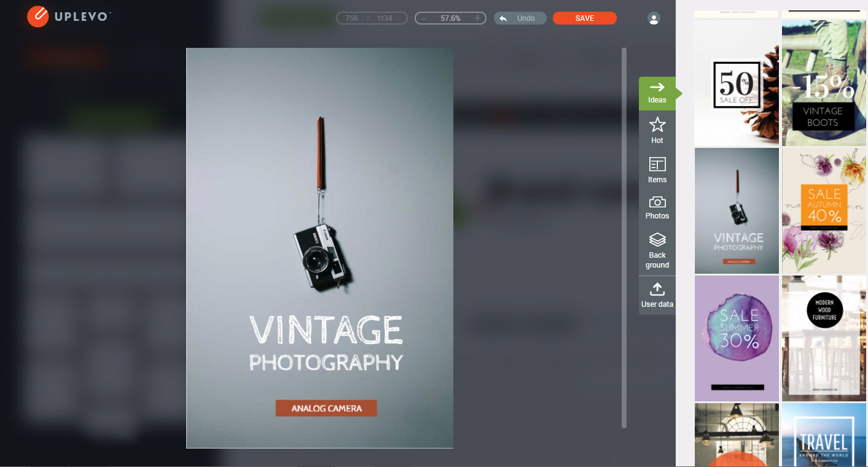 Uplevo online design tools