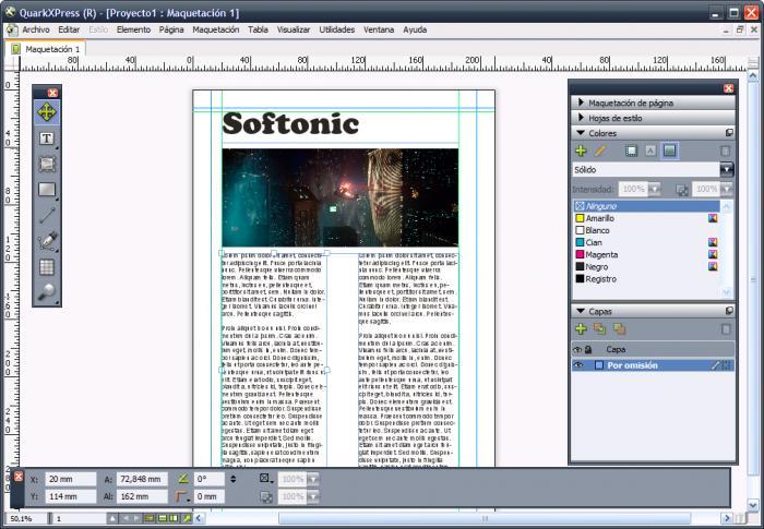 công cụ thiết kế tờ rơi QuarkXPress