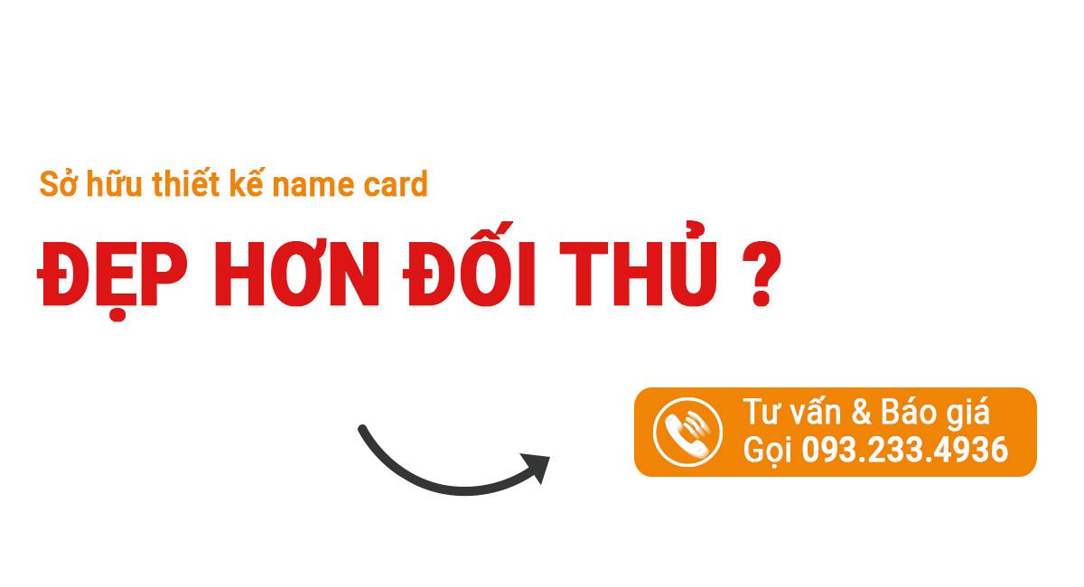 đặt hàng dịch vụ thiết kế Name card Uplevo