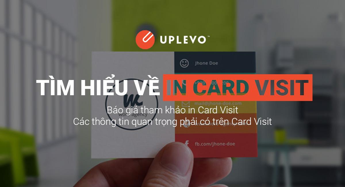 Tìm Hiểu Về In Card Visit - In Card Visit Giá Rẻ Lấy Ngay