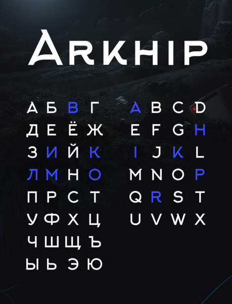 font chữ arkhip