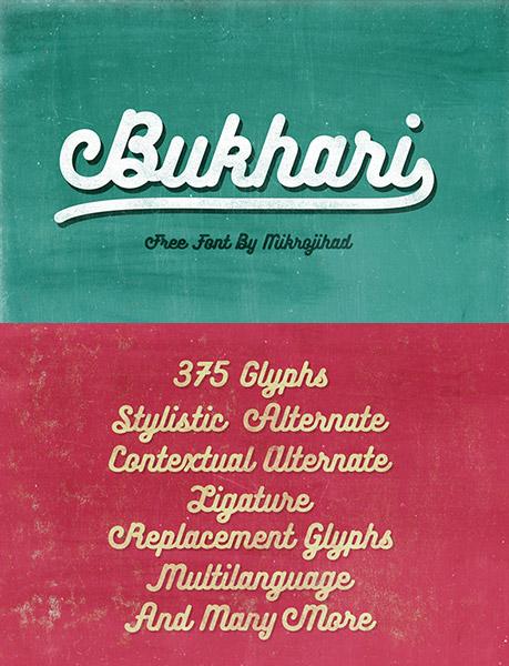 font chữ bukhari
