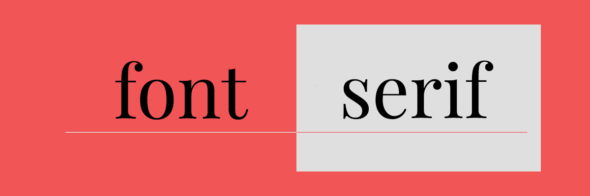 font serif trong typography