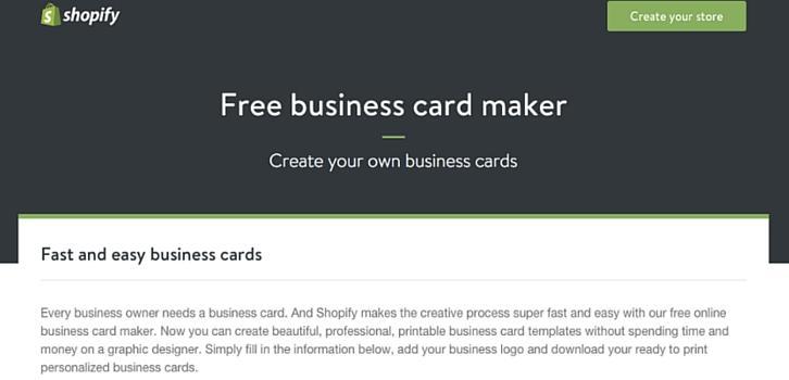 free business card maker