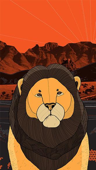 hình nền điện thoại đẹp sư tử