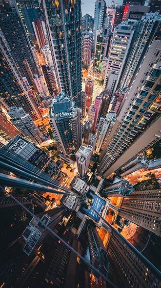 hình nền điện thoại thành phố từ trên cao