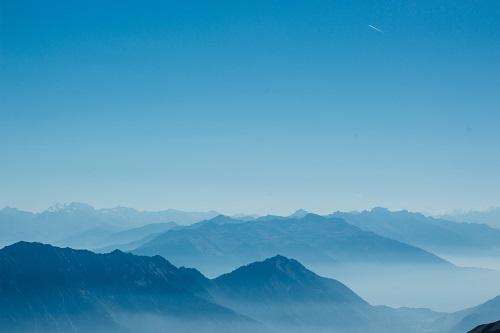 hình ảnh nền Powerpoint núi xanh