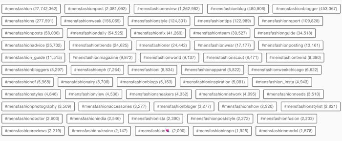 khám phá các hashtag phổ biến trên Instagram