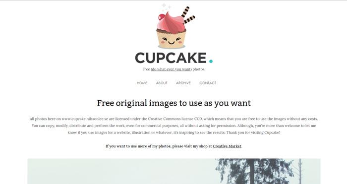 kho ảnh stock cupcake
