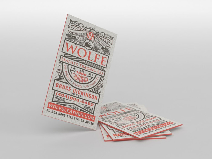 letterpress trong thiết kế vintage