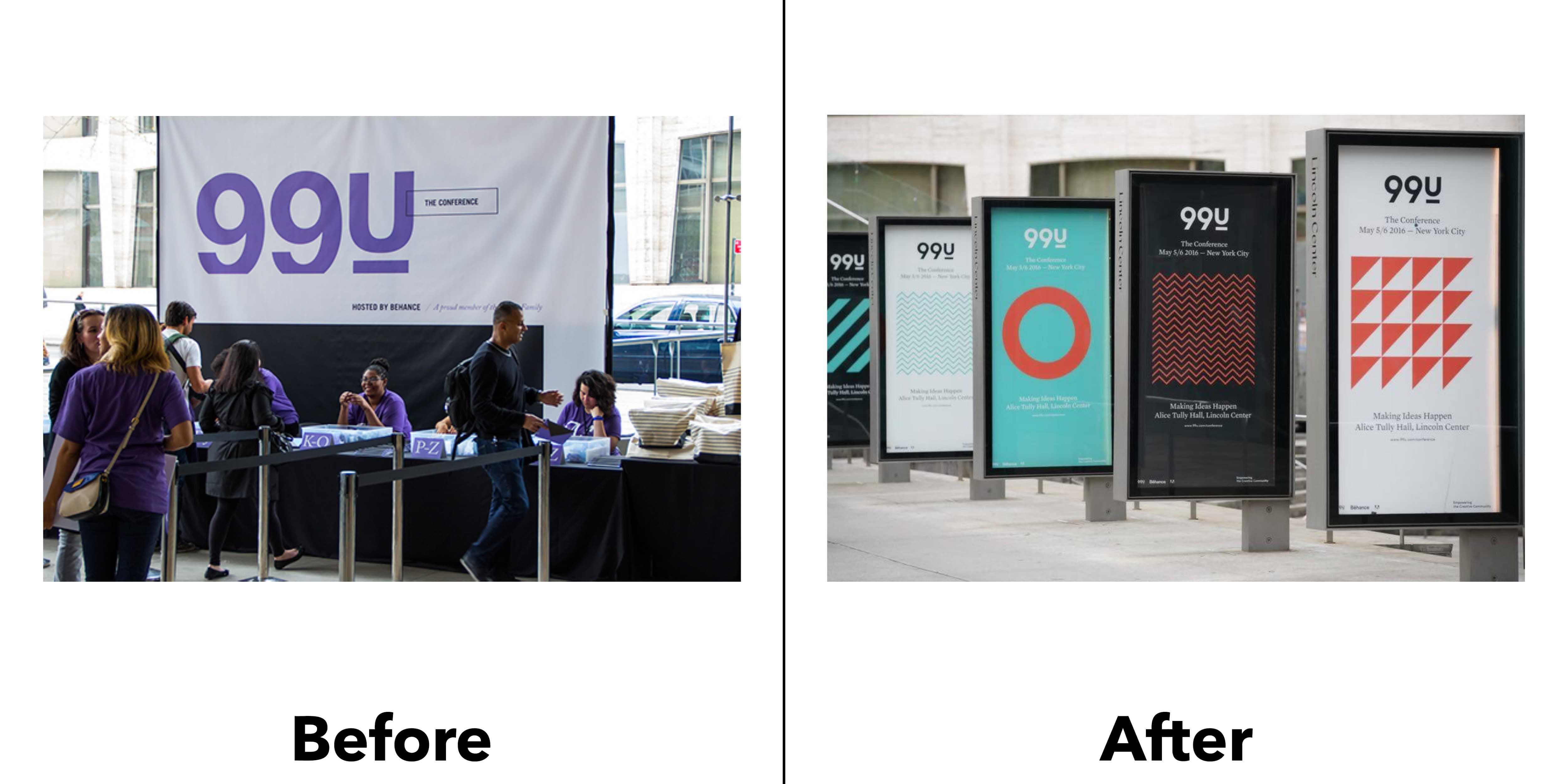 logo 99u trước và sau