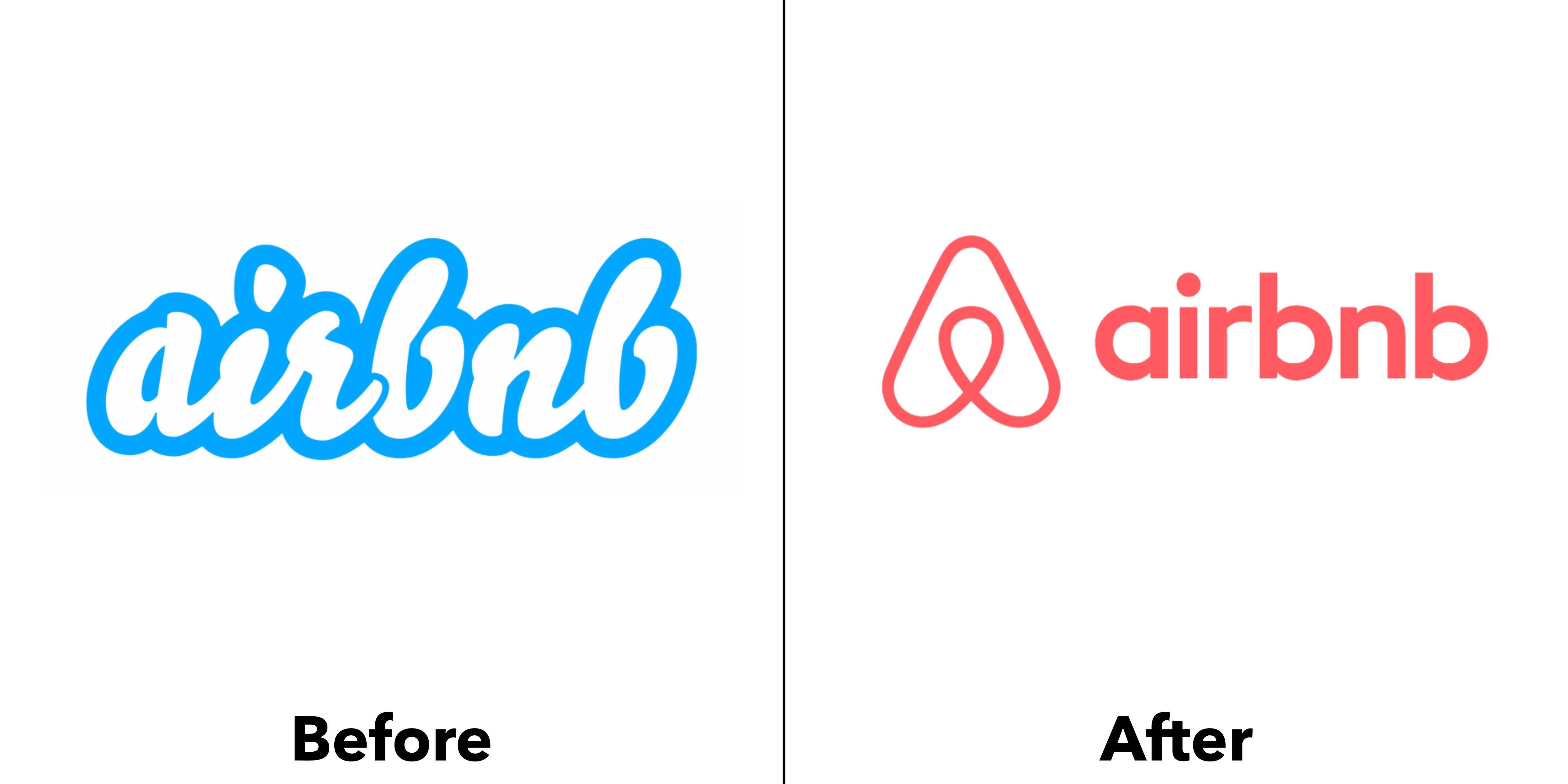logo Airbnb trước và sau