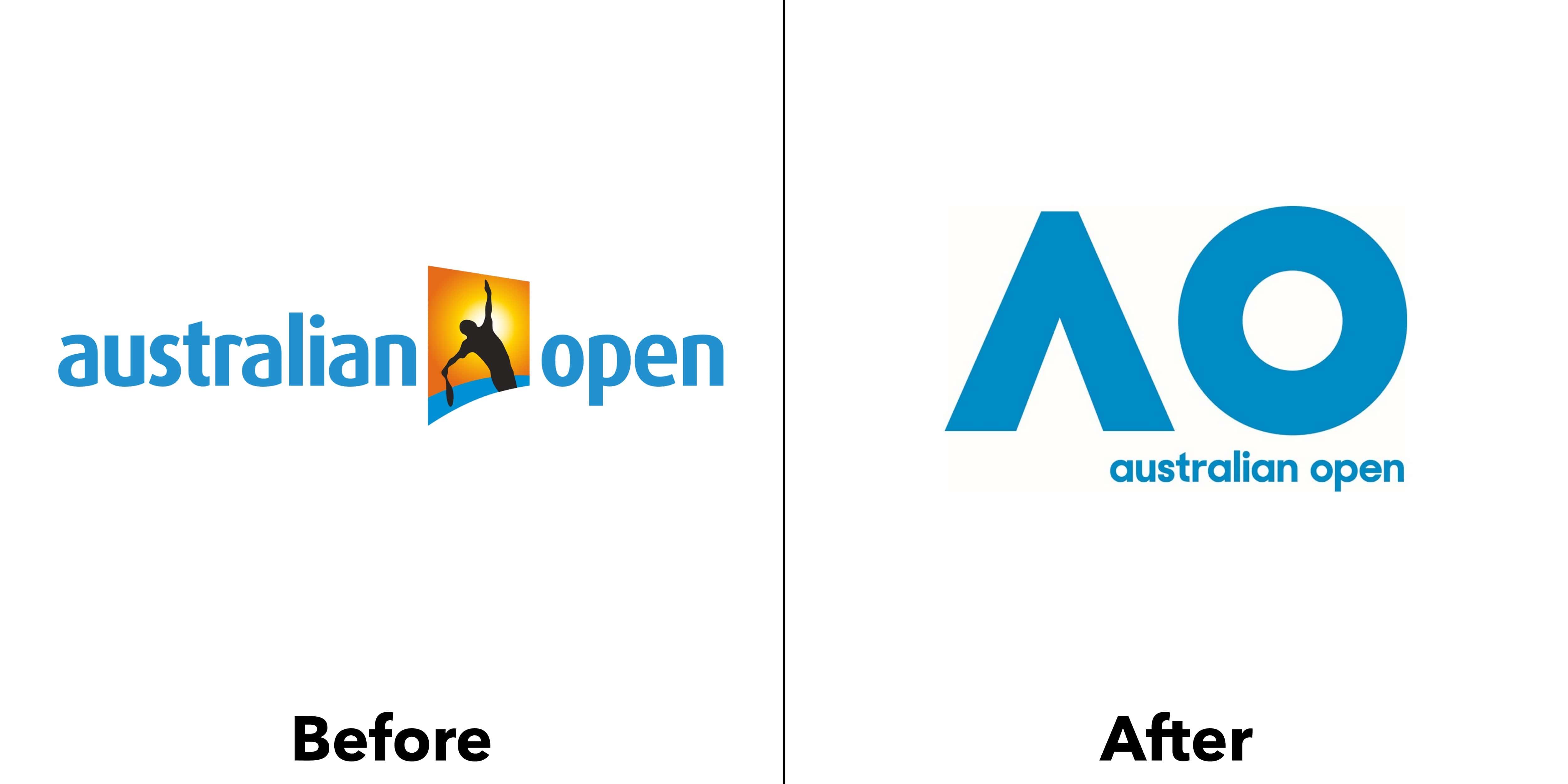 logo australian open trước và sau