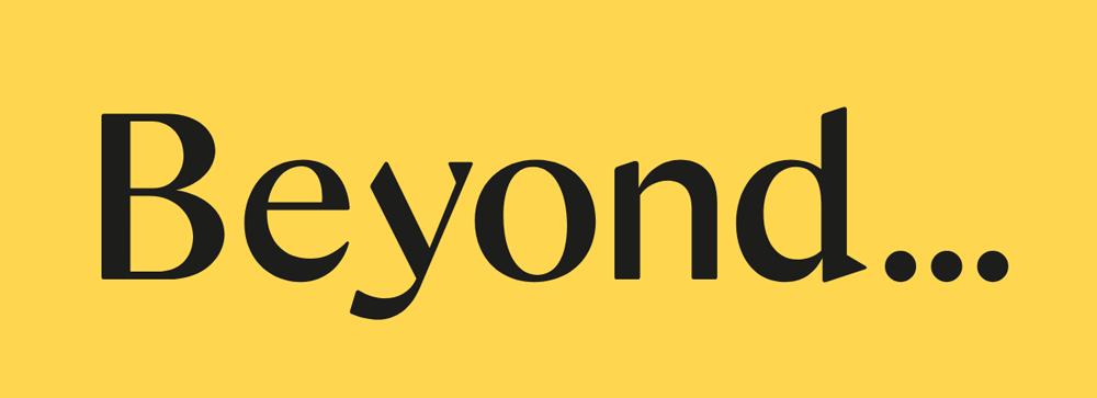 logo chữ có chân beyond