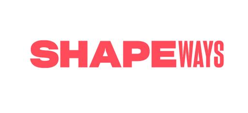 logo chữ không chân Shapeways